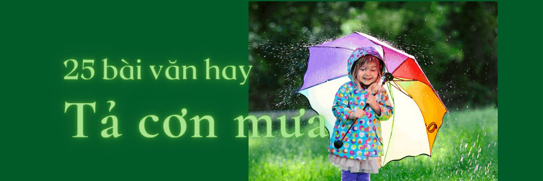 Tả cơn mưa hay nhất